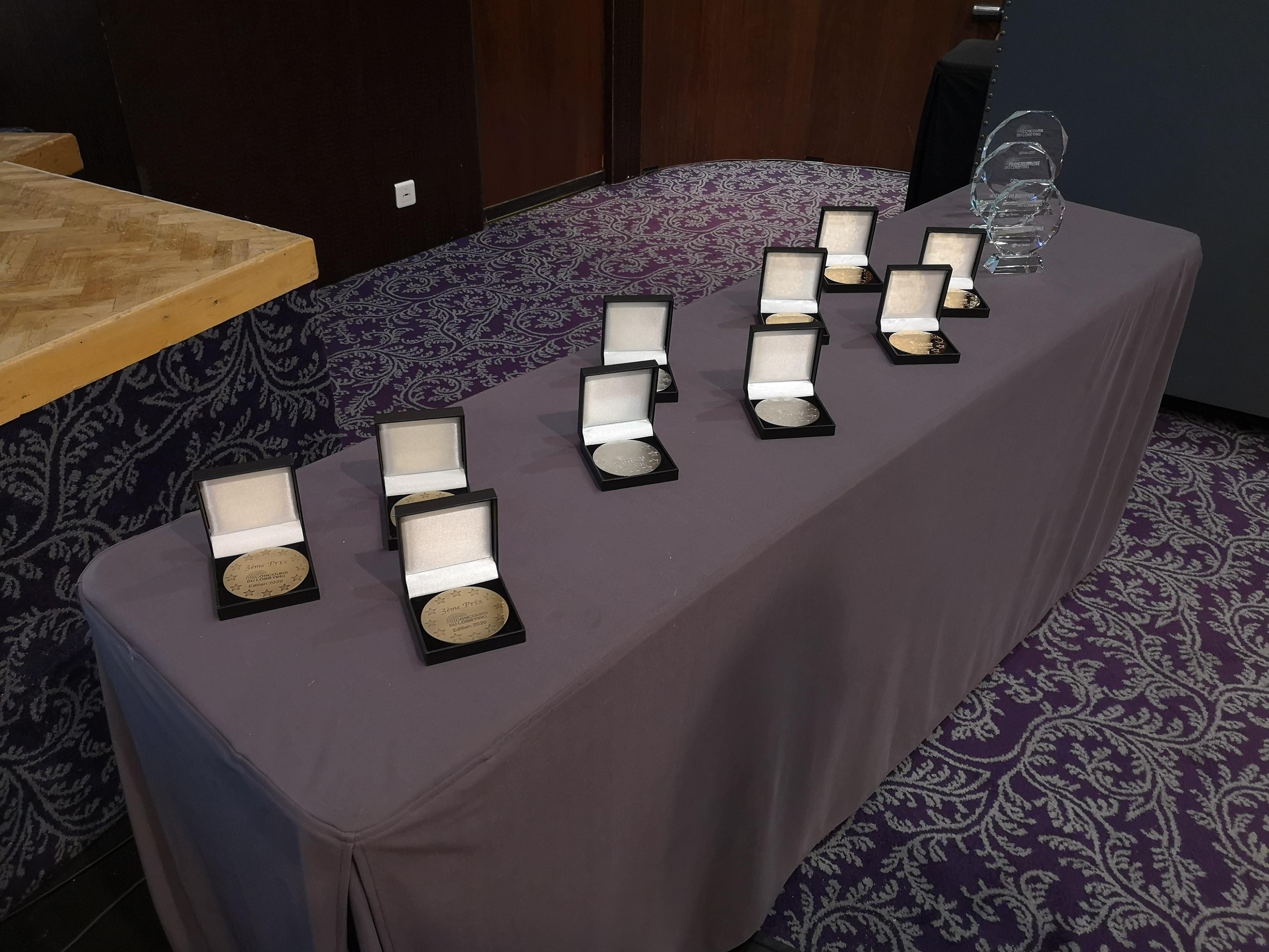 Médailles et trophées pour l'édition 2020 du Concours du Lobbying.
