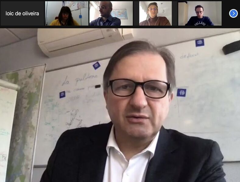 Rencontre virtuelle entre Sylvain Waserman, parrain de l'édition 2021, et les étudiants